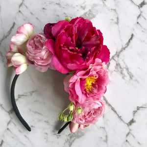 Stelly - pink peony crown.