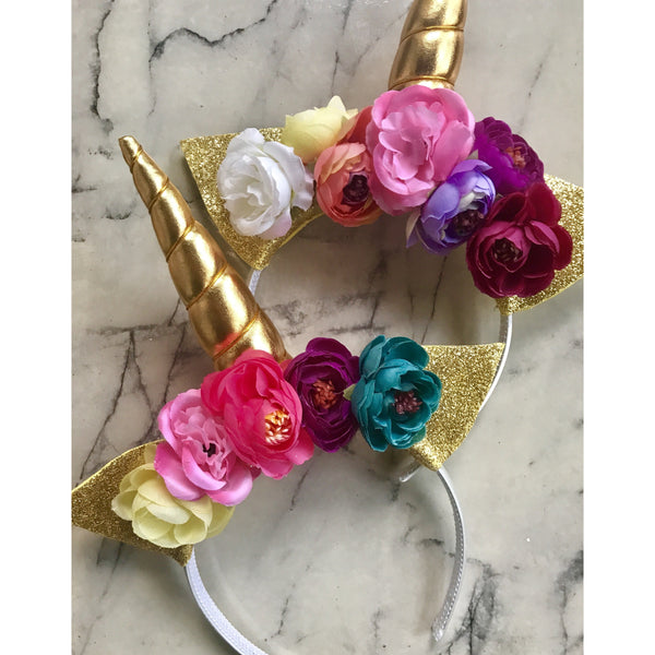 Rainbow - gold unicorn crown