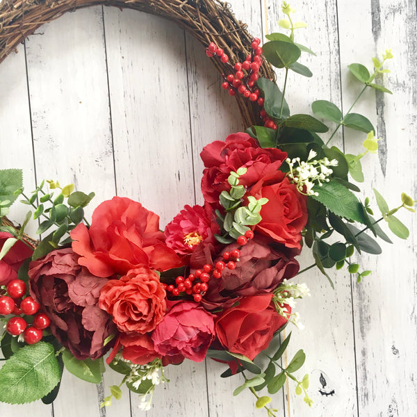 Natural wreath - red & green.