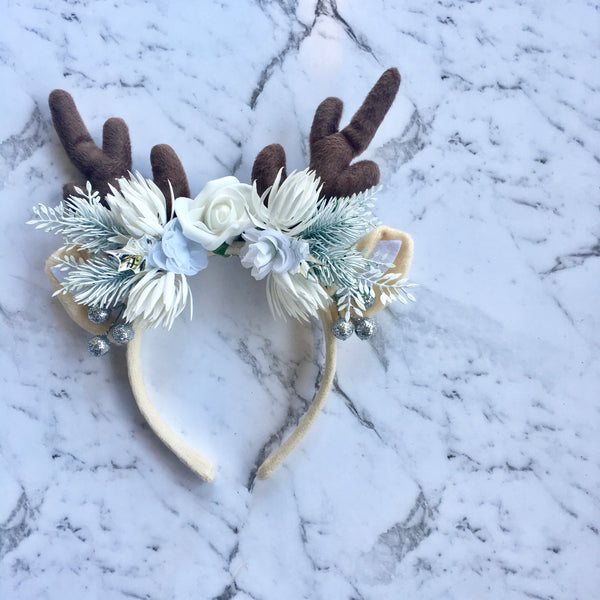 Snow Princess reindeer crown.