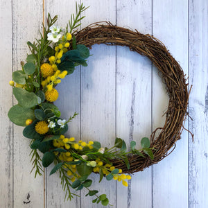Natural wreath - Australian wattle
