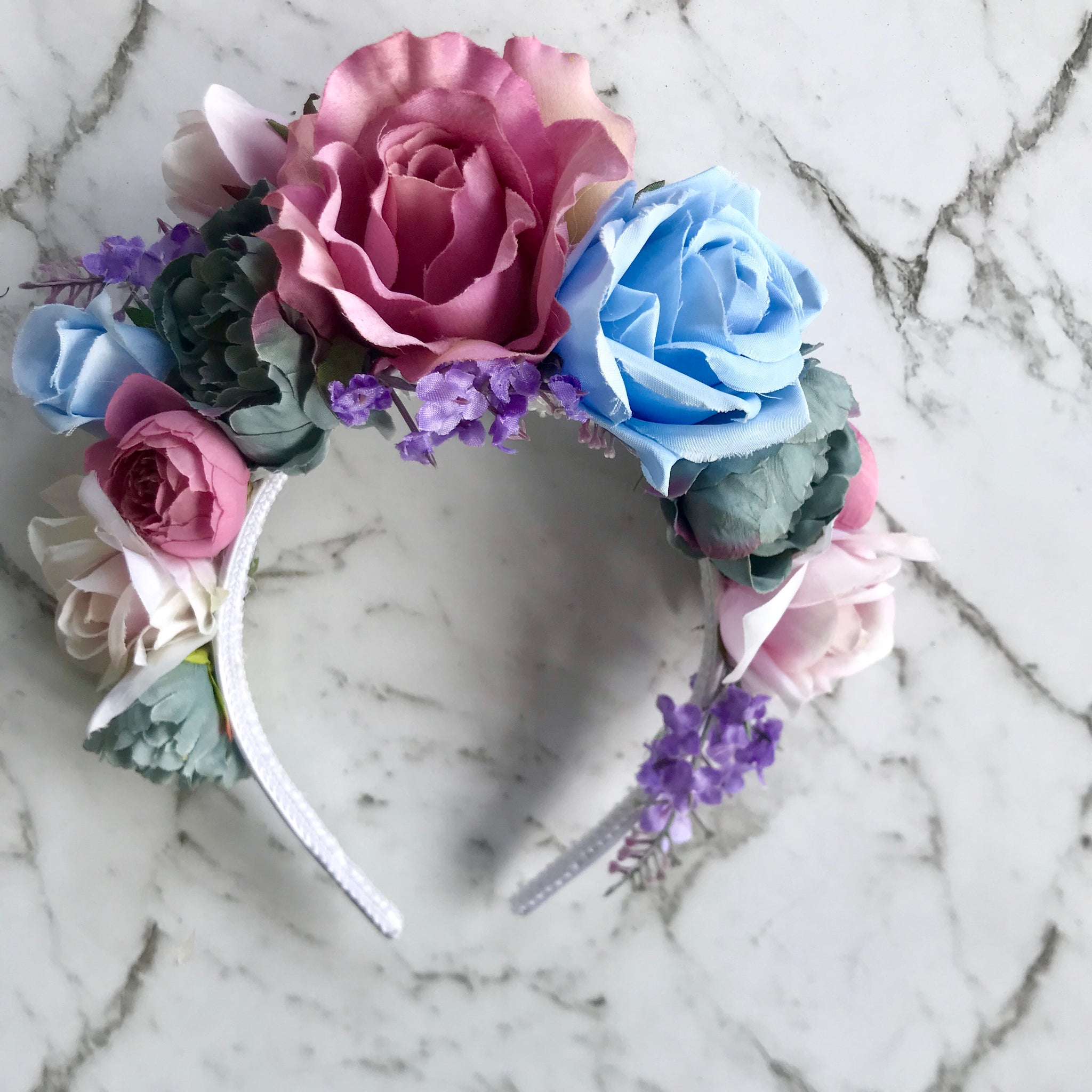 Lacey - mixed floral crown.