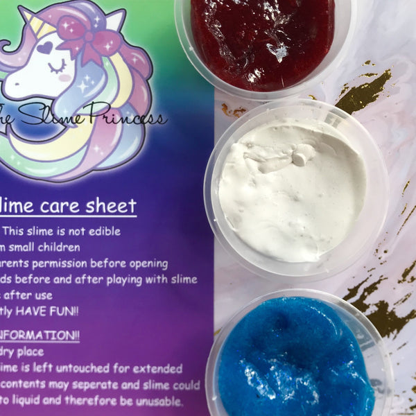 The Slime Princess - Toothpaste DIY swirl slime.