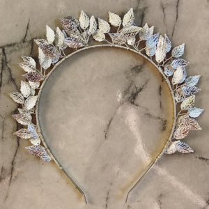 Silver mini leaf crown.