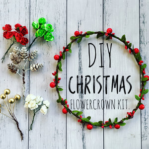 DIY - Christmas Flowercrown kit.