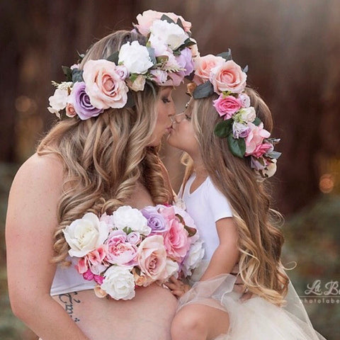 Mother & daughter Flowercrown set.