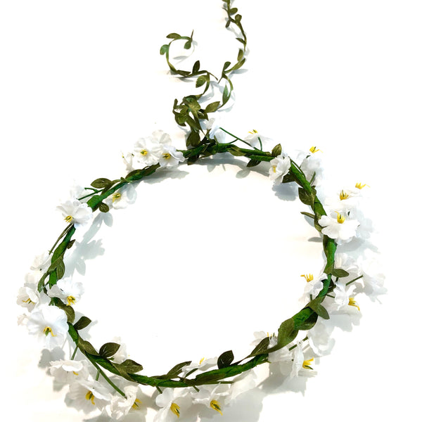 Spring Flowercrown - white.