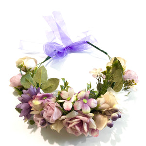 Boho mixed Flowercrown - lilac