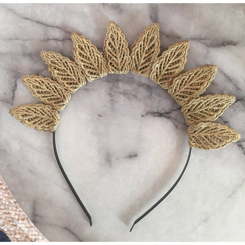 Gold Lace Leaf Crown.
