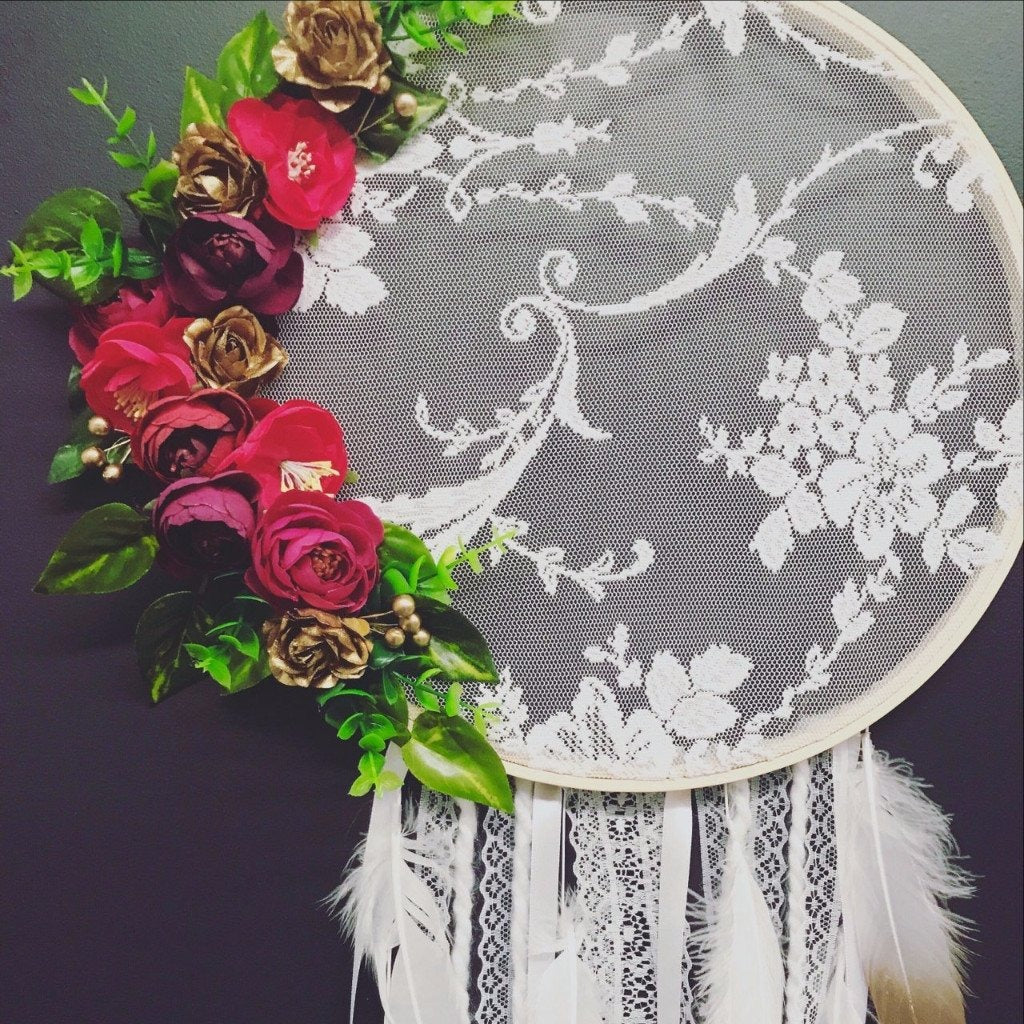 Berry beautiful lace Dreamcatcher