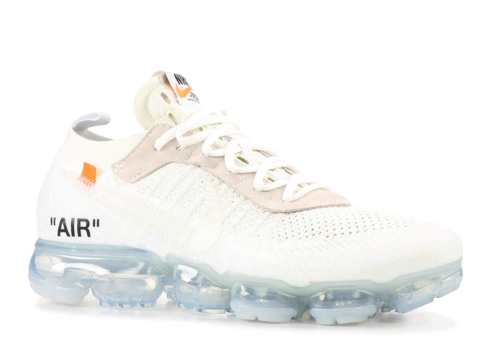 Off White x Nike Air Vapourmax White/Orange/Transparent