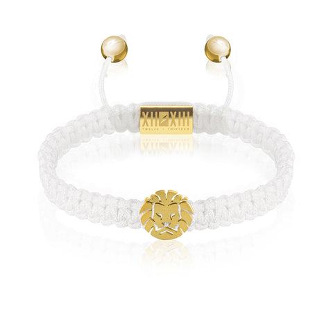 WATCHANISH by Twelve Thirteen Jewelry macramé braided bracelet - White/Matte Yellow Gold