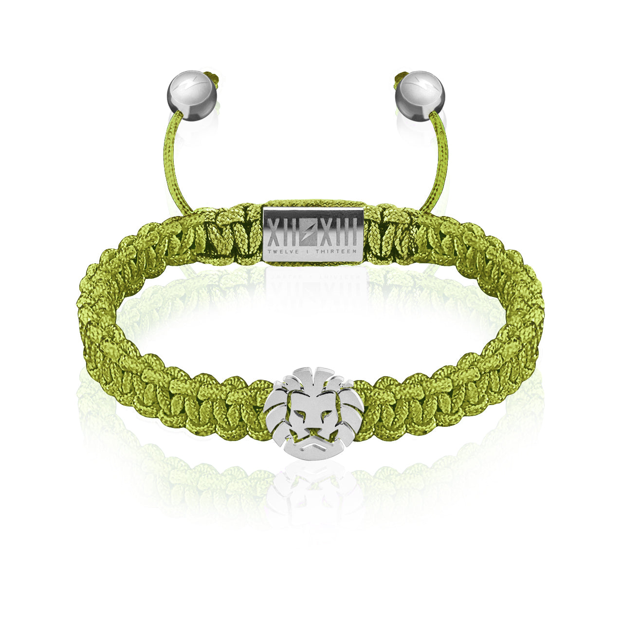 WATCHANISH by Twelve Thirteen Jewelry macramé braided bracelet - Green/Matte Silver