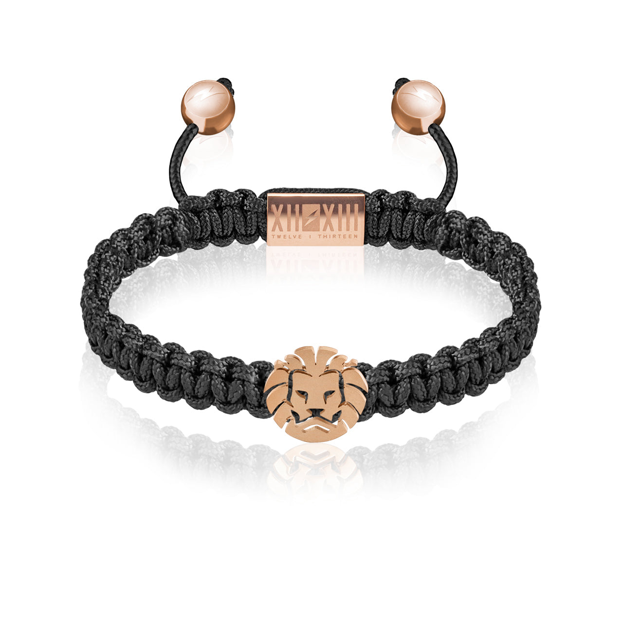 WATCHANISH by Twelve Thirteen Jewelry macramé braided bracelet - Black/Matte Rose Gold