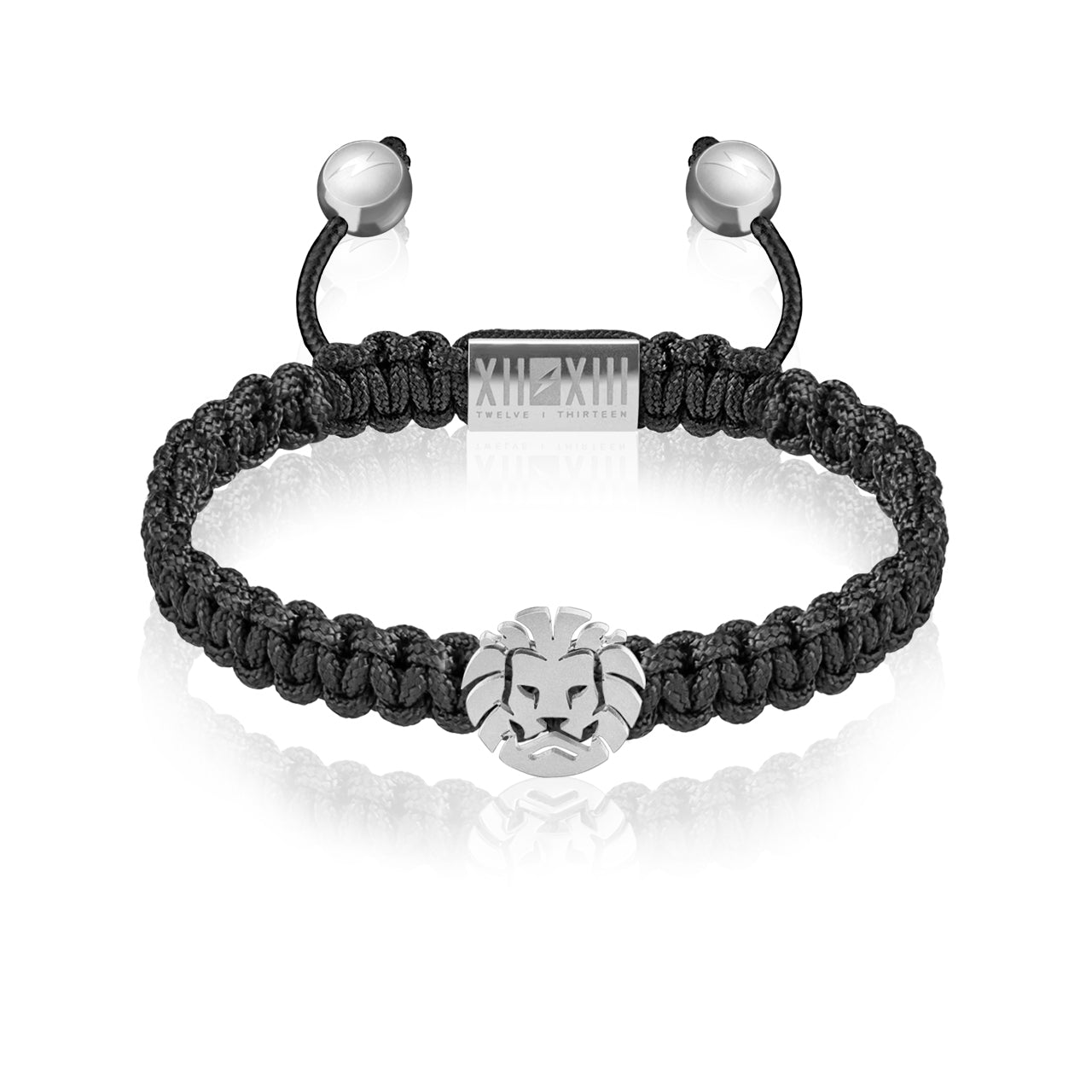 WATCHANISH by Twelve Thirteen Jewelry macramé braided bracelet - Black/Matte Silver