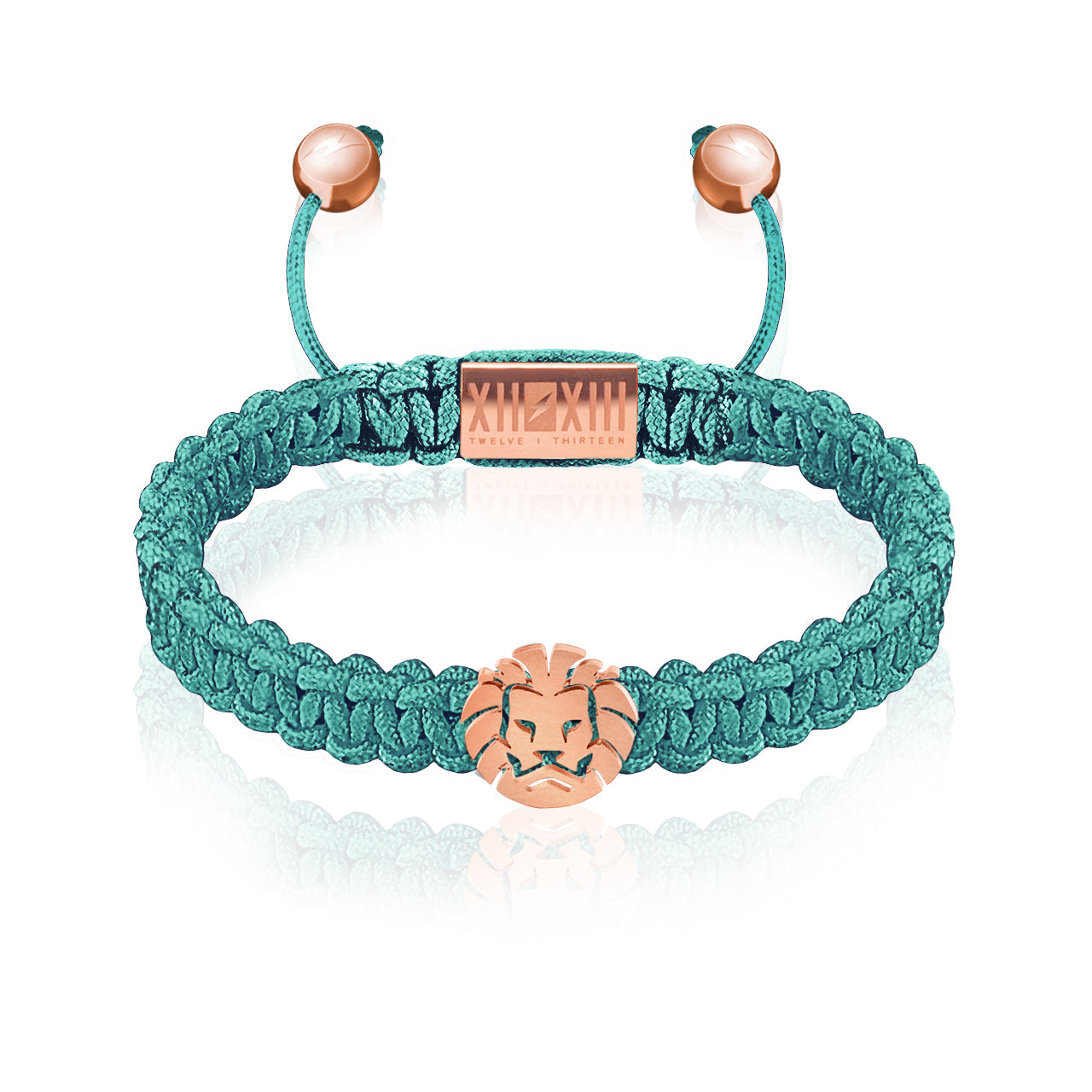 WATCHANISH by Twelve Thirteen Jewelry macramé braided bracelet - Turquoise/Matte Rose Gold