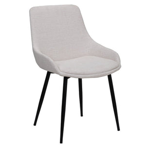 Theo Fabric Dining Chair in Beige