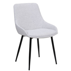 Theo Fabric Dining Chair in Light Grey