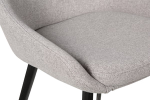 Owen Fabric Dining Chair in Dark Grey