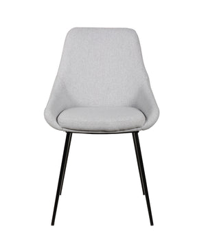 Owen Fabric Dining Chair in Light Grey