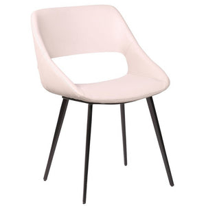 Brice Leatherette Dining Chair in Light Grey