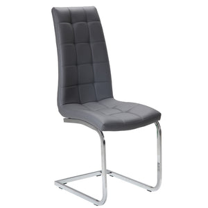 Kade Leatherette Dining Chair in Grey