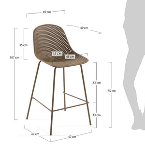 Brooks 75cm Bar Stool in Beige