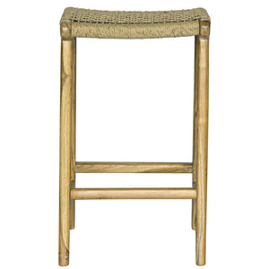 Johansen Rope Bar Stool in Teak/Natural