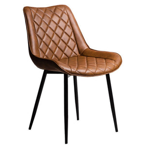 Torben Leatherette Dining Chair in Rust