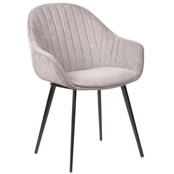 Cyril Fabric Dining Chair In Grey Marc Amp Main