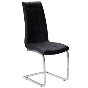 Kade Leatherette Dining Chair in Black