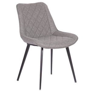 Torben Leatherette Dining Chair in Vintage Grey