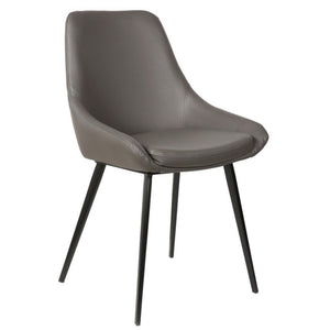 Owen Leatherette Dining Chair in Anthracite