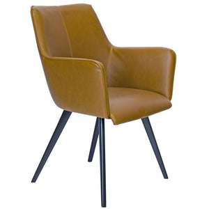 Coen Leatherette Dining Chair in Tan