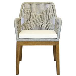 Juelz Rope Dining Chair in Light Grey