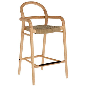 Garrett 69cm Eucalyptus Wood Bar Stool in Beige