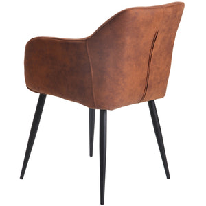 Niko Suede Dining Chair in Copper