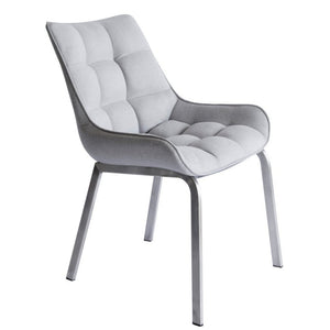 Dane Fabric Dining Chair in Stainless Steel/Grey