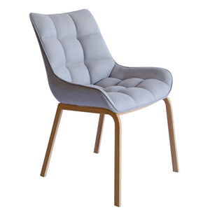 Dane Fabric Dining Chair in Oak/Grey