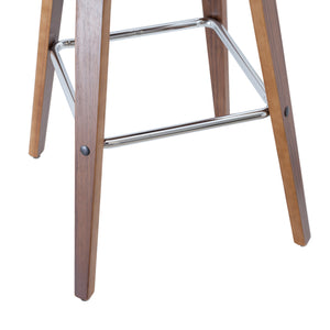Lander 70cm Leatherette Kitchen Bar Stool in Walnut/Black