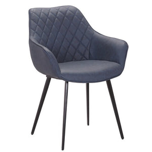 Colton Leatherette Dining Chair in Blue
