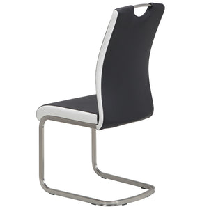 Cooper Leatherette Dining Chair in Black/White