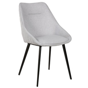 Jacob Fabric Dining Chair in Light Grey
