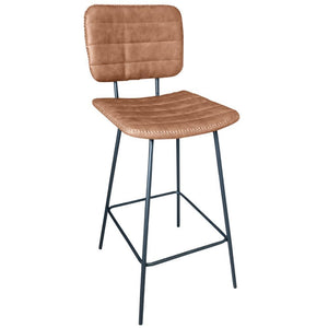 Asher Kitchen Counter Stool in Vintage Tan