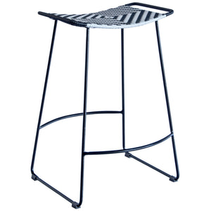 Venga Rattan Bar Stool in Black and White
