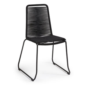 Sammy Rope Dining Chair in Black