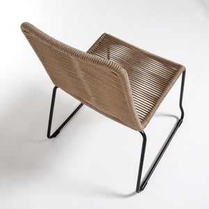 Sammy Rope Dining Chair in Beige