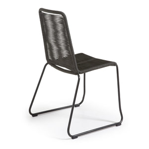 Sammy Rope Dining Chair in Dark Grey