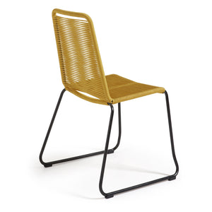 Sammy Rope Dining Chair in Mustard