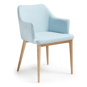 Huxley Fabric Dining Chair in Light Blue
